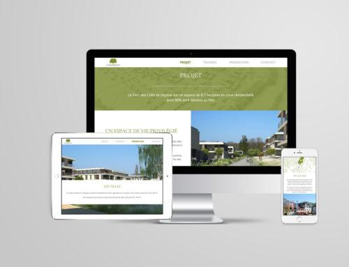 Le Parc des Crêts – Site web